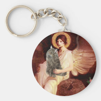 Seated Angel - Norwegian Forest Cat Key Chains