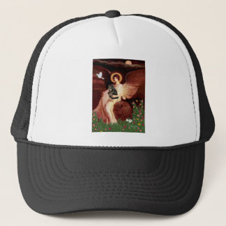 Seated Angel - Persian Calico cat Trucker Hat