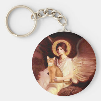 Seated Angel - Red Abyssinian Keychain