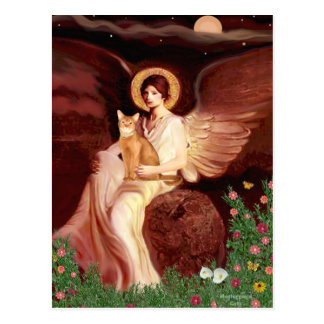 Seated Angel - Red Abyssinian Postcard