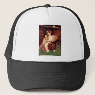 Seated Angel - Red Abyssinian Trucker Hat