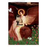 Seated Angel - Seal Point Siamese cat Greeting Card