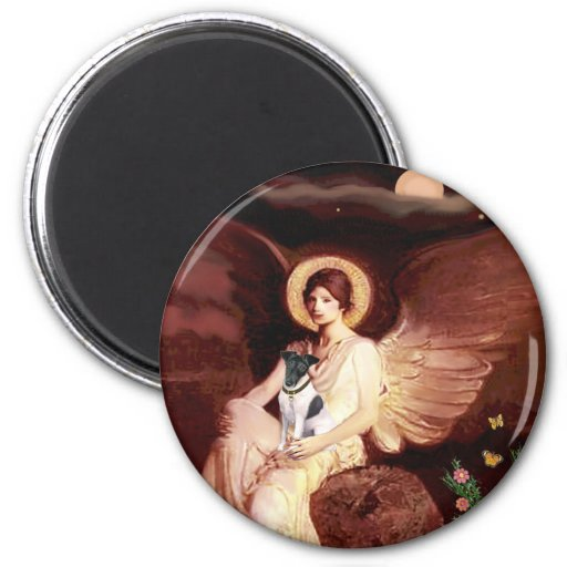 Seated Angel - Smooth Fox Terrier Fridge Magnets