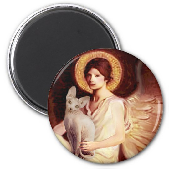 Seated Angel - Sphynx cat Magnet