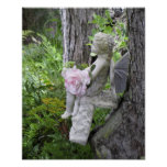 Seated Angel Statuette Print