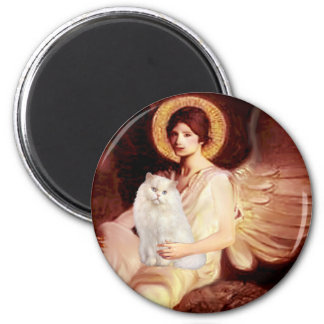 Seated Angel - White Persian cat #13 Magnet