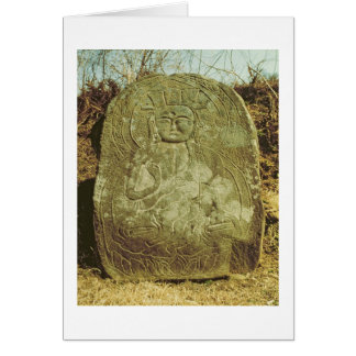 Seated Bodhisattva Korean c 985 AD granite Card
