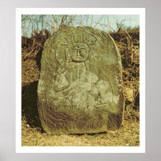 Seated Bodhisattva, Korean, c.985 AD (granite) Poster