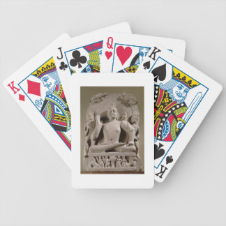 Seated Bodhisattva, Mathura (red sandstone) Bicycle Playing Cards