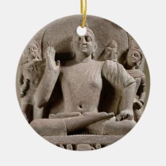 Seated Bodhisattva, Mathura (red sandstone) Ceramic Ornament