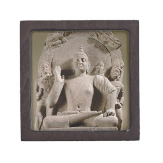 Seated Bodhisattva, Mathura (red sandstone) Jewelry Box