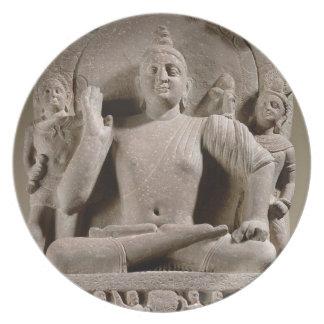 Seated Bodhisattva, Mathura (red sandstone) Melamine Plate