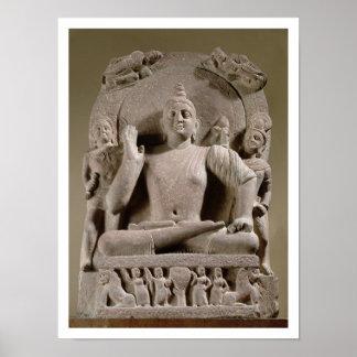 Seated Bodhisattva, Mathura (red sandstone) Poster