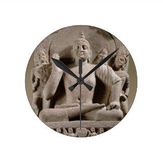 Seated Bodhisattva, Mathura (red sandstone) Round Clock