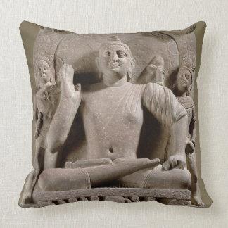Seated Bodhisattva, Mathura (red sandstone) Throw Pillow
