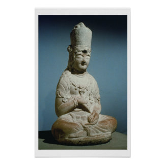Seated Bodhisattva of Hansong-sa, Korea, 10th cent Poster
