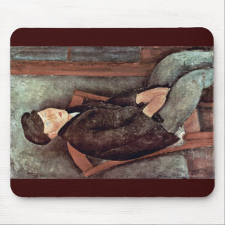 Seated Boy With Hat By Modigliani Amedeo Mouse Pads
