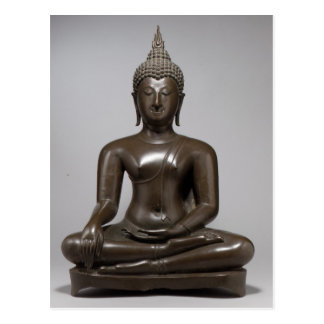 Seated Buddha - 15th century Postcard