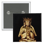 Seated Buddha 2 Inch Square Button