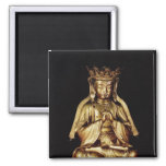 Seated Buddha 2 Inch Square Magnet