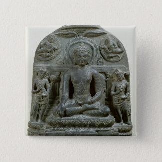 Seated Buddha in meditation Button