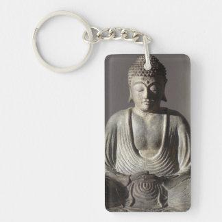 Seated Buddha Single-Sided Rectangular Acrylic Keychain