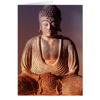 Seated Buddha Statue Card