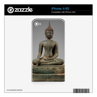 Seated Buddha - Thailand Decals For iPhone 4S
