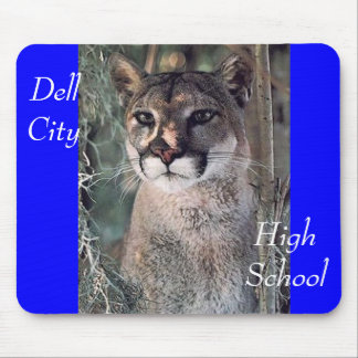 seated cougar, Dell City, High School Mouse Pad