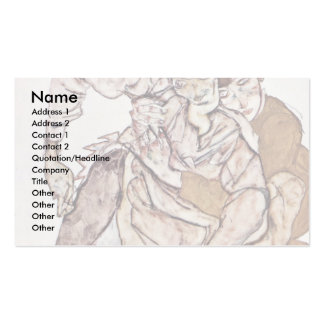 Seated Couple By Schiele Egon Double-Sided Standard Business Cards (Pack Of 100)