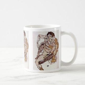 Seated Couple By Schiele Egon Coffee Mugs