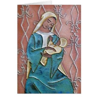Seated Madonna of the Fleur de Lys Card