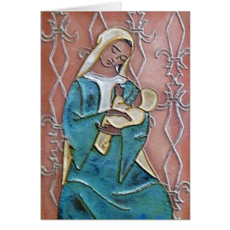 Seated Madonna of the Fleur de Lys Cards