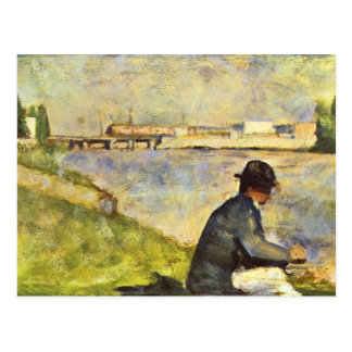 Seated man by Georges Seurat Postcard