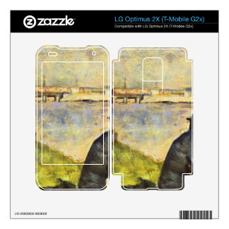 Seated man by Georges Seurat Skins For LG Optimus 2X