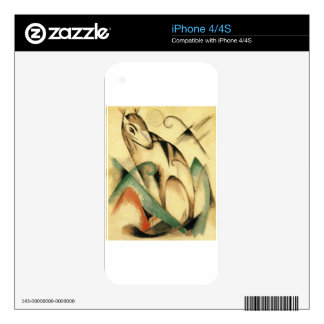 Seated Mythical Animal by Franz Marc iPhone 4S Decals