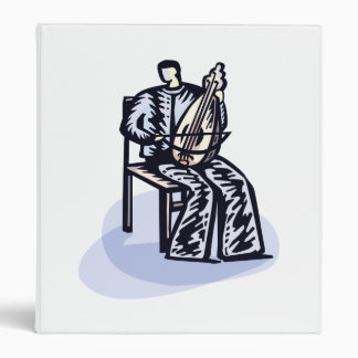 Seated Orchestral Stringed Instrument Player Graph Binder