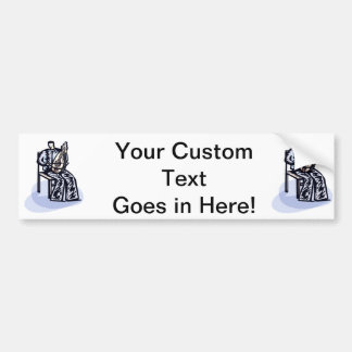 Seated Orchestral Stringed Instrument Player Graph Car Bumper Sticker
