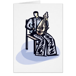 Seated Orchestral Stringed Instrument Player Graph Card