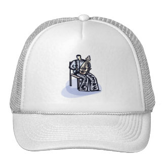 Seated Orchestral Stringed Instrument Player Graph Trucker Hat