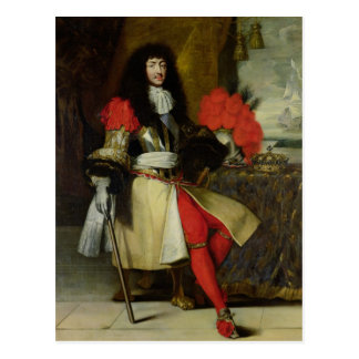 Seated Portrait of Louis XIV  after 1670 Post Card