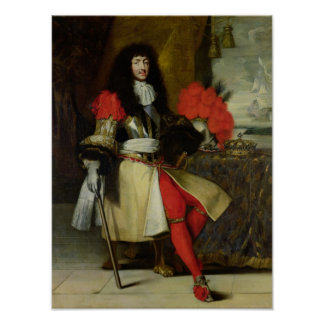 Seated Portrait of Louis XIV  after 1670 Poster