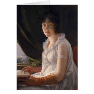 Seated Portrait of Marie-Philippe-Claude Greeting Card