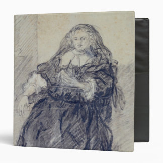 Seated Saskia with a letter in her left hand 3 Ring Binder