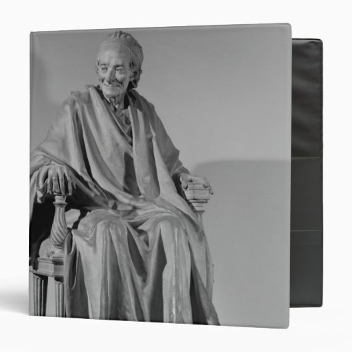 Seated sculpture of Voltaire 3 Ring Binder