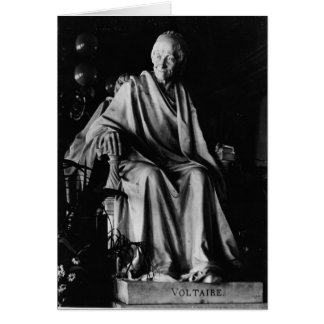 Seated sculpture of Voltaire Card