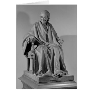 Seated sculpture of Voltaire Greeting Card