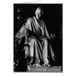 Seated sculpture of Voltaire Greeting Cards