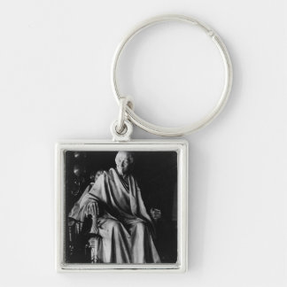 Seated sculpture of Voltaire Keychain
