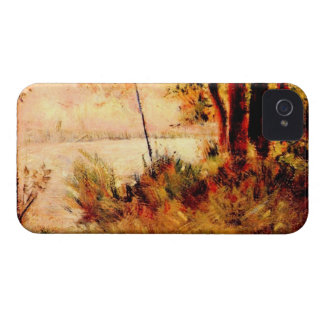 Seated slope by Georges Seurat iPhone 4 Case-Mate Case